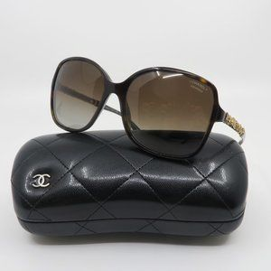 CHANEL 5355 c.714 Gold BLOOMING Bijou Sunglasses